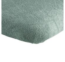 Badstof Boxhoeslaken Stonegreen