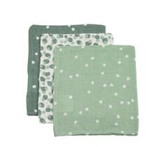 Hydrofiel Washandje Spots Groen