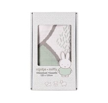 Muslin Swaddle Miffy Grass Green