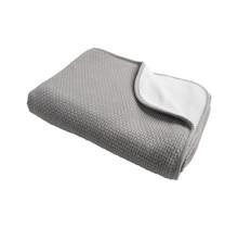 Decke Pique Winter Grau