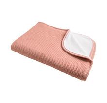 Decke Pique Winter Grey Pink