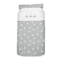 Bettbezug + Kissenbezug Miffy Sterne Grau