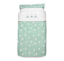 Bettbezug + Kissenbezug Miffy Sterne Jade
