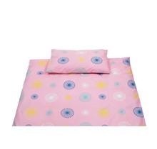 Dekbedovertrek + Sloop Pien Pink/Multi