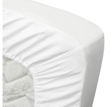 Satin Fitted Sheet White