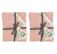 Hydrofiel Waschhandschuh Sunny Pink- 2 Pack