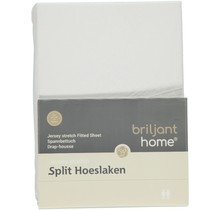 Jersey Split Hoeslaken Wit