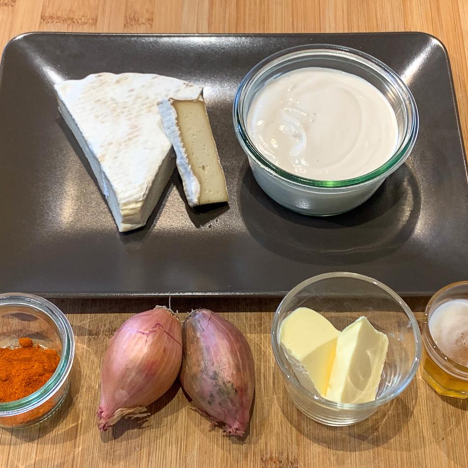 obatzter ingredients with cashewbert and wowgurt