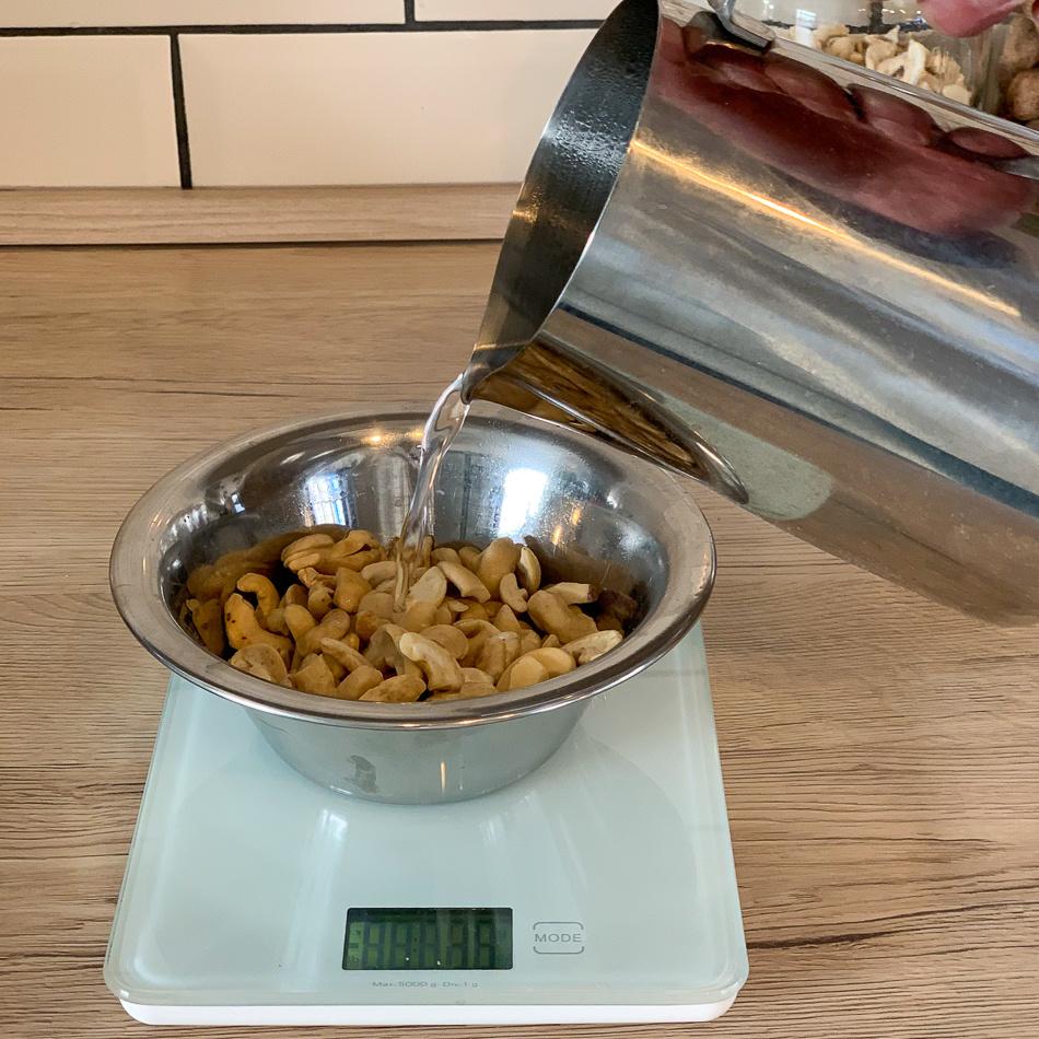 cashews boiling