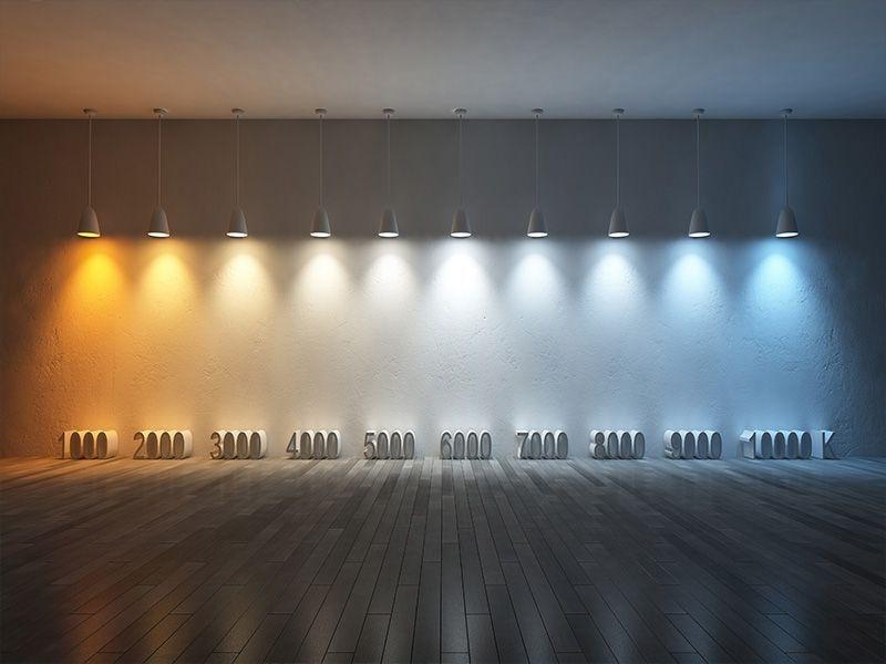 De kleur van het licht