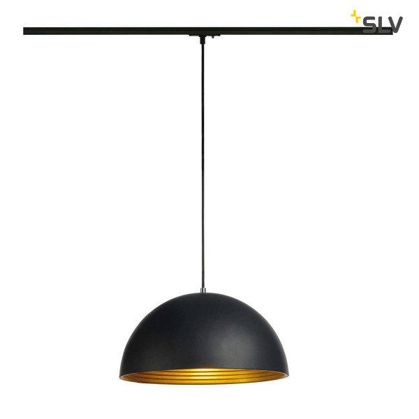 SLV Hanglamp Forchini M 1 Fase buitenkant zwart binnenkant goud