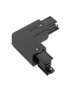 Global Trac Lighting Systems 3-Fase-Rail hoek zwart