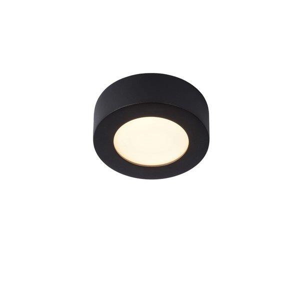 Lucide Badkamerlamp zwart 12cm rond LED dimbaar