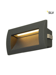 SLV Wand inbouw LED spot antraciet IP55