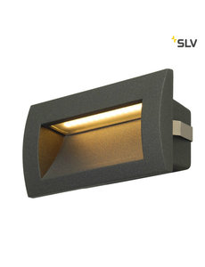 SLV Wand inbouw LED spot antraciet IP55