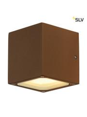 SLV Wandlamp GX53 roestbruin blok