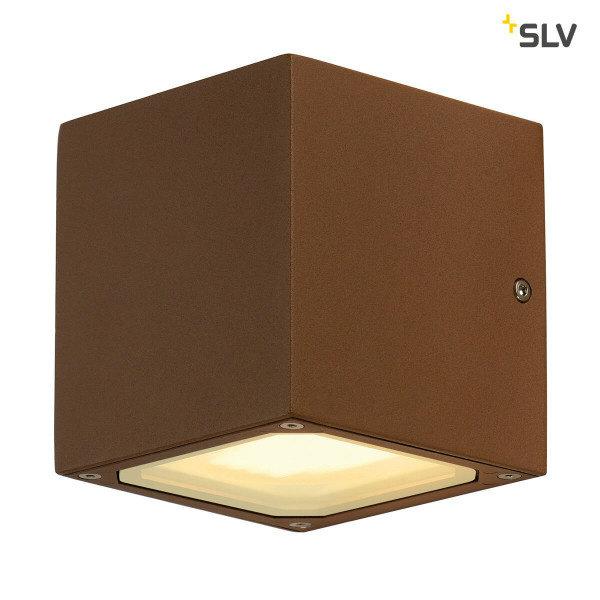 SLV Buitenlamp wandlamp GX53 roestbruin blok