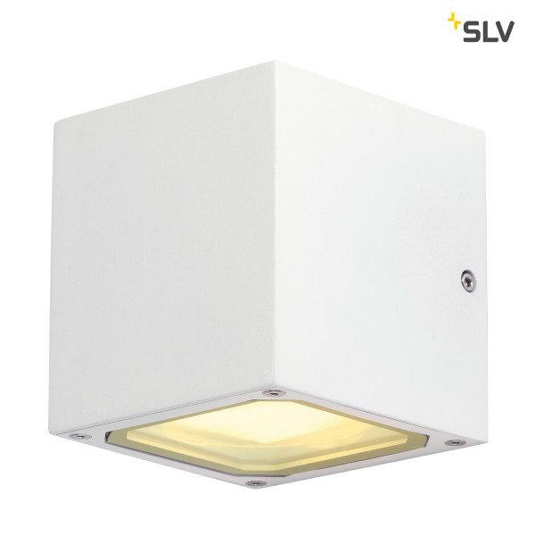 SLV Buitenlamp wandlamp GX53 wit blok
