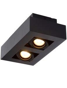 Lucide Moderne Dim to Warm LED zwart 2 spots