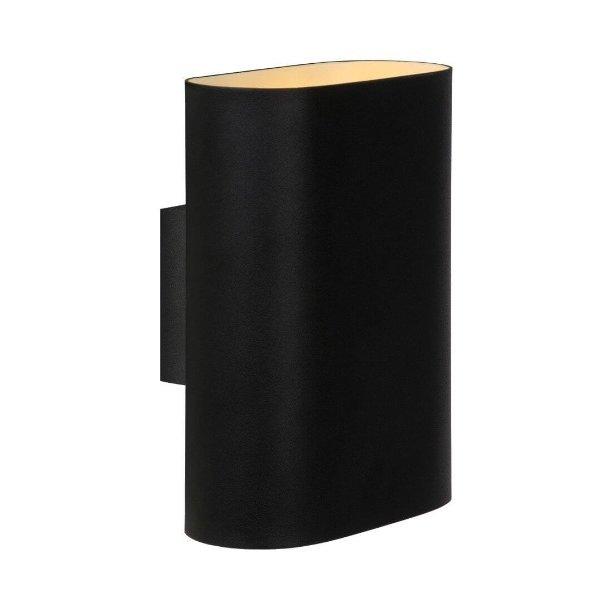 Lucide Wandlamp zwart 2x E14