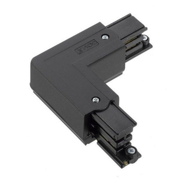 Global Trac Lighting Systems 3-Fase-Rail hoekverbinder zwart