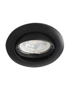 Kanlux Inbouwspot rond kantelbaar zwart