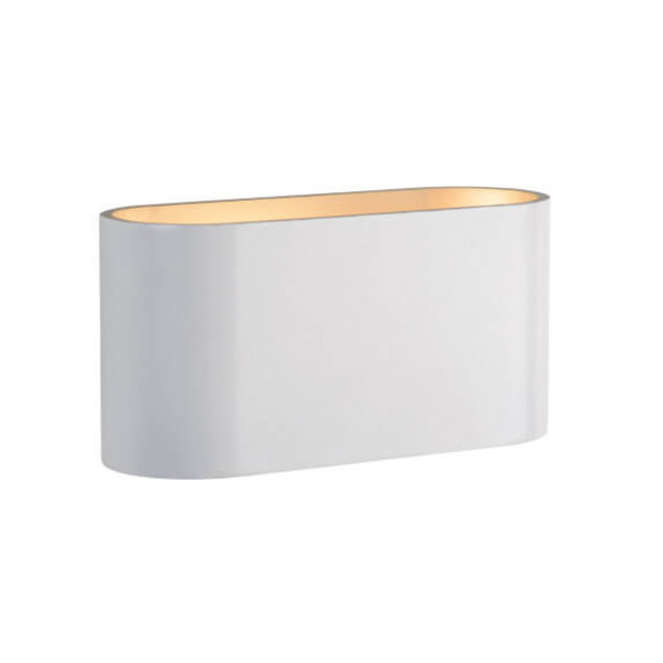 Spectrum LED Wandlamp wit goud ovaal G9