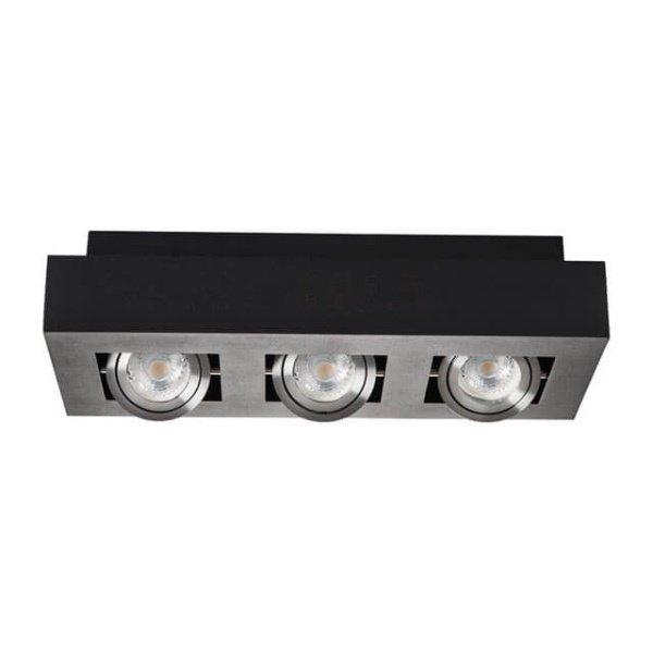 Kanlux Moderne plafondspot drievoudig zwart kantelbaar
