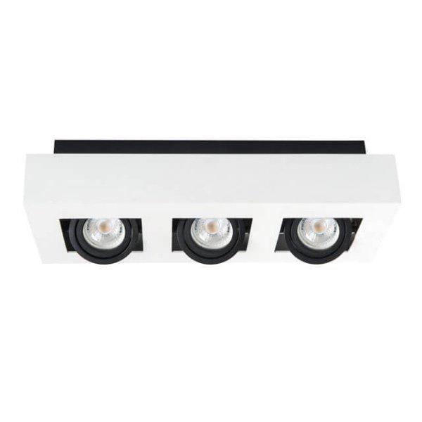 Kanlux Moderne plafondspot drievoudig wit kantelbaar
