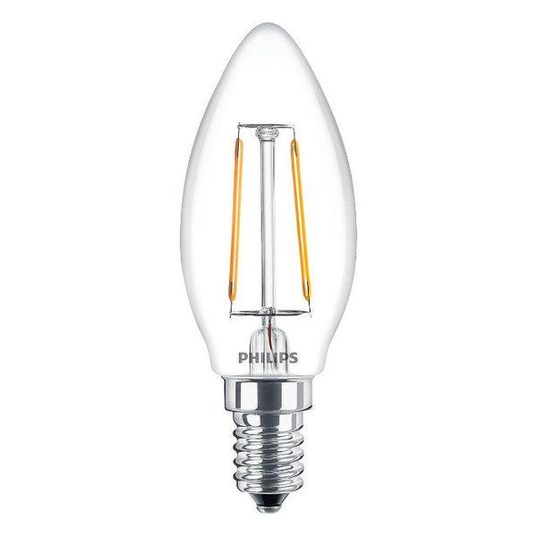 Philips Filament LED Lamp E14 2 Watt 2700K Warm Licht