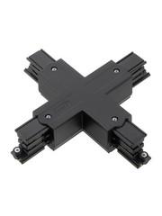 Global Trac Lighting Systems 3-Fase-Rail kruis-verbinder zwart