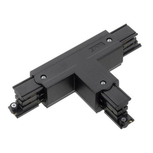 Global Trac Lighting Systems 3-Fase-Rail T-verbinder zwart
