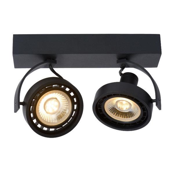 Lucide Grote LED spots zwart dimbaar 2 spots