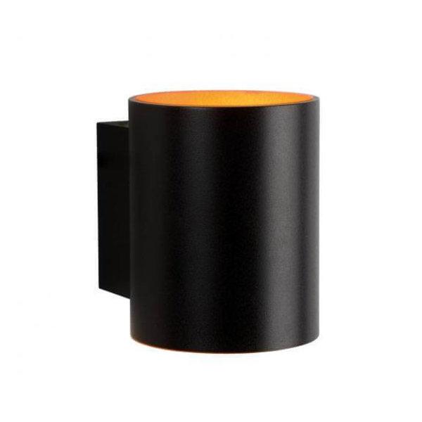 Spectrum LED Wandlamp zwart goud koker G9