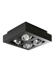 Kanlux Moderne plafondspot GU10 zwart 4 spots