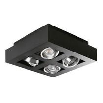Kanlux Moderne plafondspot viervoudig zwart
