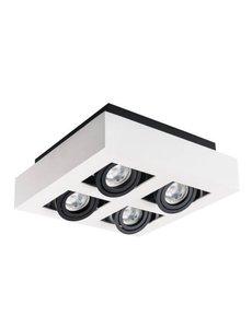 Kanlux Moderne plafondspot GU10 wit 4 spots