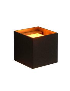 Lucide XIO Wandlamp zwart goud blok LED dim