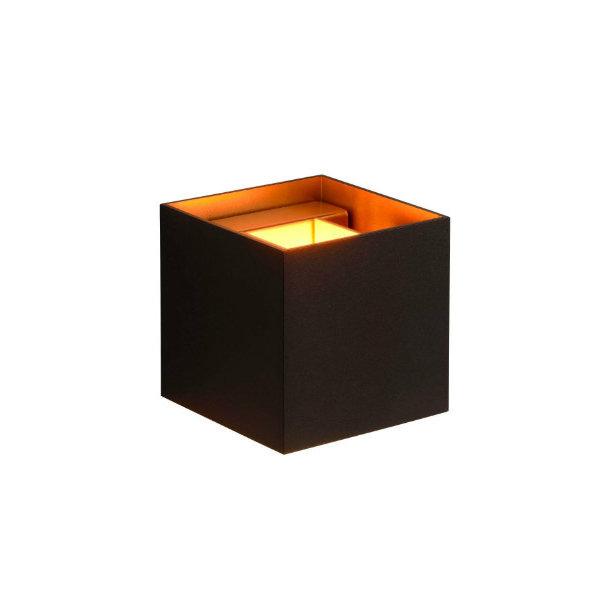 Lucide XIO Wandlamp zwart goud blok LED dimbaar