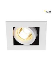 SLV Inbouwspot 1 spot GU10 wit