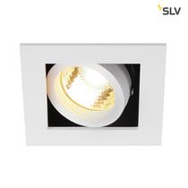 SLV Inbouw spot Kardan 230 Volt 1 spot GU10 wit