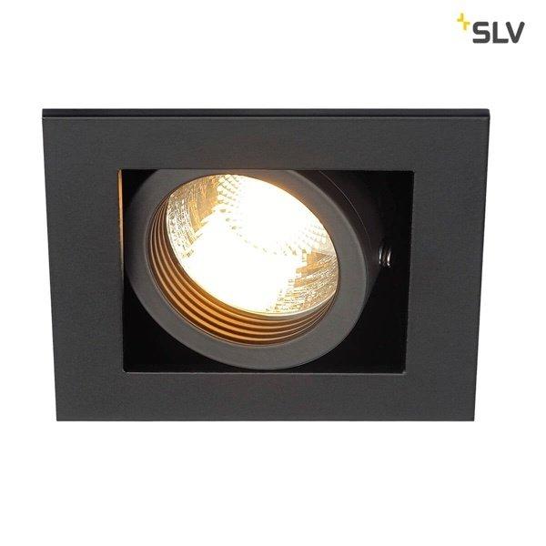 SLV Inbouw spot Kardan 230 Volt 1 spot GU10 zwart