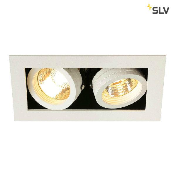 SLV Inbouw spot Kardan 230 Volt 2 spots GU10 wit