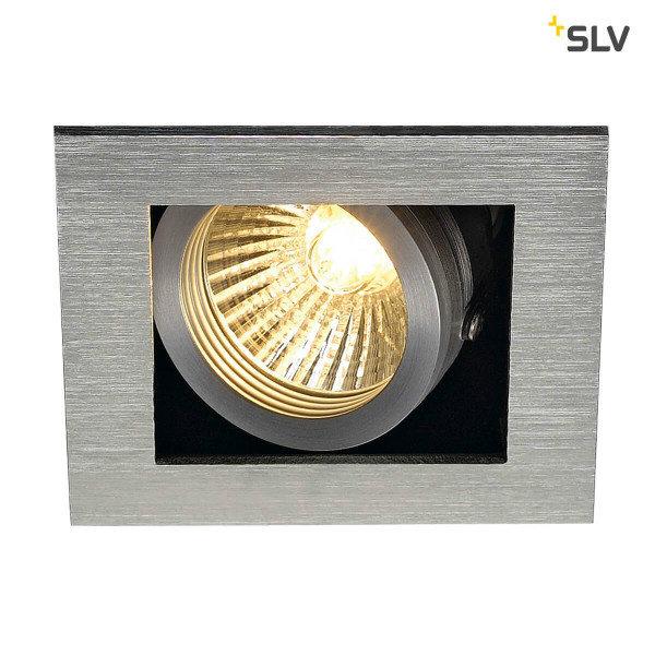 SLV Inbouw spot Kardan 230 Volt 1 spot GU10 aluminium geborsteld