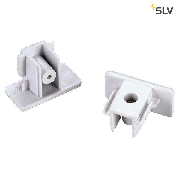SLV 1-Fase-Rail eindkapjes wit 2 stuks