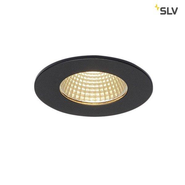 SLV IP65 Inbouw spotje LED 12 Watt rond zwart dimbaar 230 Volt