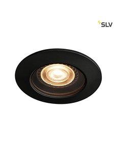 SLV IP65 inbouwspot zwart GU10
