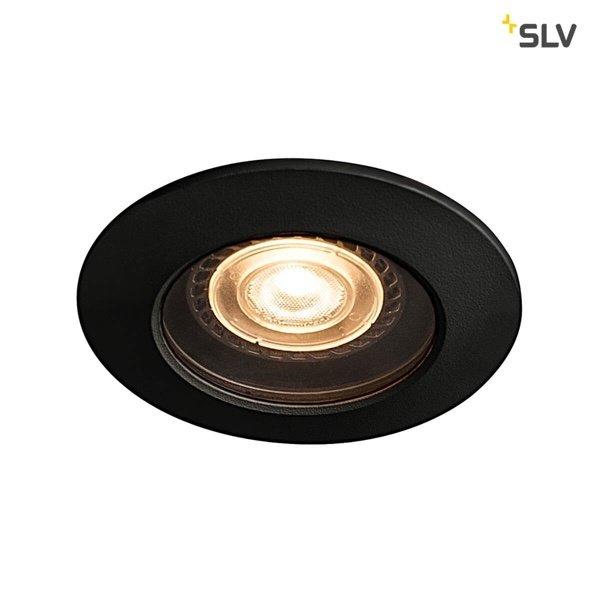 SLV IP65 inbouw spotje voor badkamers en buiten zwart GU10