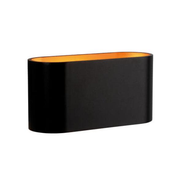 Spectrum LED Wandlamp zwart goud ovaal G9