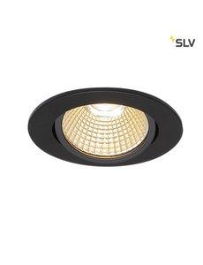 SLV Inbouw LED spot rond zwart kantelbaar